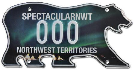 Northwest Territories Aurora License Plate
