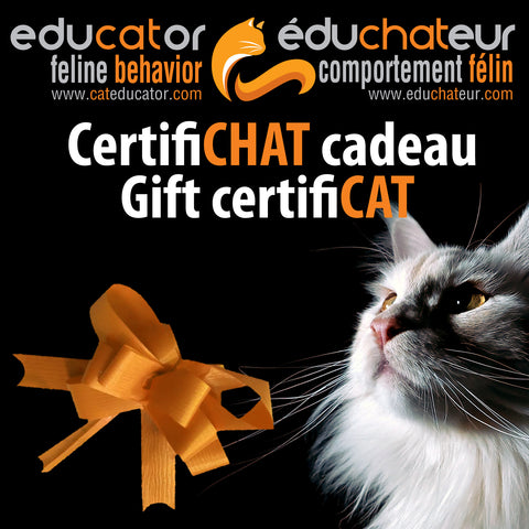 CertifiCHAT cadeau 25 $ (taxes incluses) / Gift CertifiCAT $25 (taxes included)