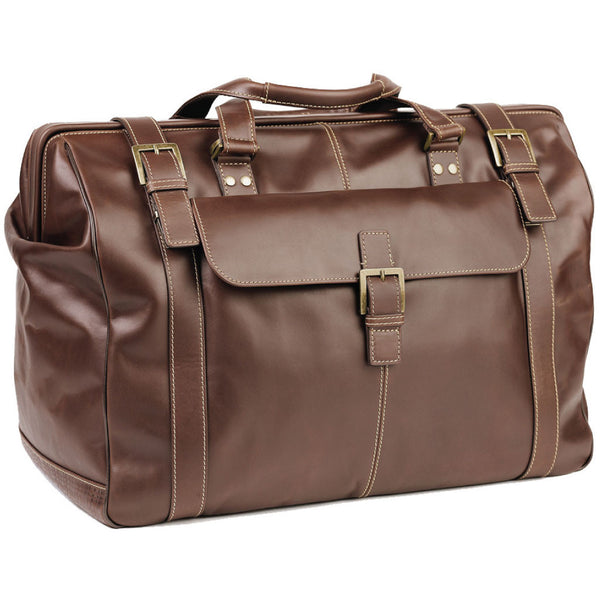530-9517 Boconi Bryant Antiqued Mahogany Leather Safari Duffle