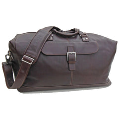 532-2207 Boconi Coffee Brown Tyler Tumbled Leather Cargo Duffle