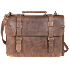Scully Leather 81st Aero Squadron Collection Walnut Brown Lambskin Commodore's Briefing Case