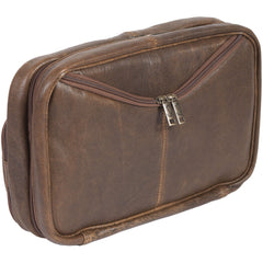 SCU-634-10-29 Scully Leather 81st Aero Squadron Collection Walnut Brown Lambskin Flight Kit Side