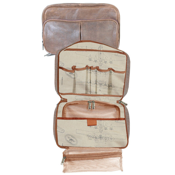 Scully Leather 81st Aero Squadron Collection Walnut Brown Lambskin Flight Kit