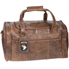 Scully Leather 81st Aero Squadron Collection Walnut Brown Lambskin Pilot's Overnight Duffle Bag