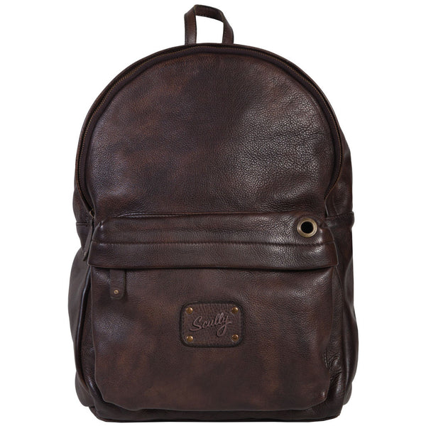 926-44-25 Scully Leather Solvang Dark Brown Antique Goat Leather Backpack