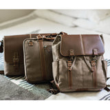 Boconi Bryant LTE Heather Brown Canvas and Leather Men's Bag Collection