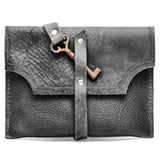 C201101-BK Divina Denuevo Black Leather Man-Size Mayfair Mega-Wallet