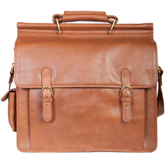 H293-07-23 Hidesign Lawyer's Chestnut Brown Bar Top Leather Briefcase