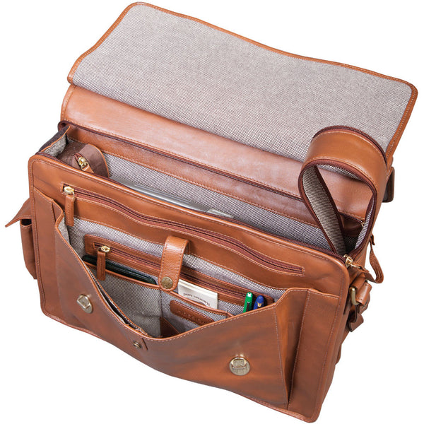 Hidesign Lawyer S Bar Top Leather Briefcase Oak Roads