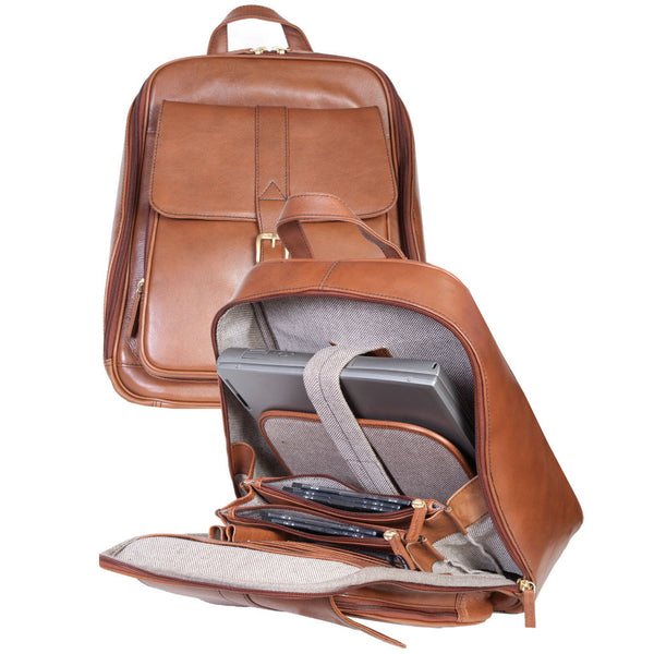 295-07-23 Scully Urban Peaks Chestnut Brown Calfskin Leather Backpack