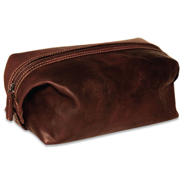 Jack Georges #7219 Voyager Brown Buffalo Leather Travel Dopp Kit