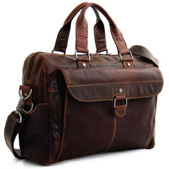 Jack Georges #7316 Voyager Brown Buffalo Leather Business Travel Bag