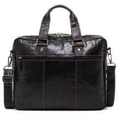 Jack Georges #7317 Voyager Large Black Buffalo Leather Business Bag