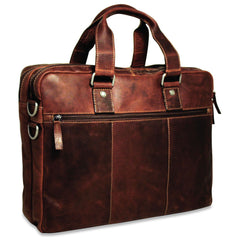 Jack Georges #7317 Voyager Large Brown Buffalo Leather Business Bag