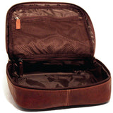 Jack Georges #7419 Voyager Large Brown Buffalo Leather Shave Kit