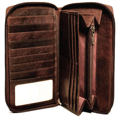 Jack Georges #7724 Voyager Brown Buffalo Leather Travel Wallet