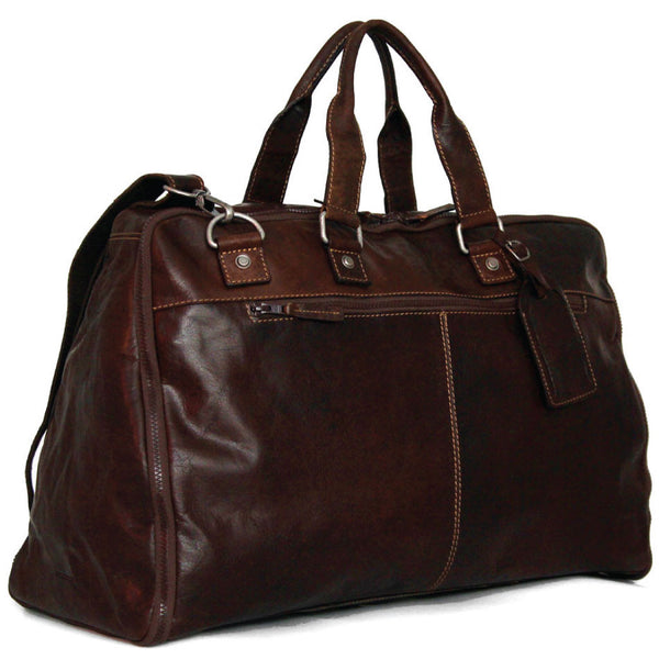 Jack Georges #7550 Voyager Brown Buffalo Leather Convertible XL Valet Duffle