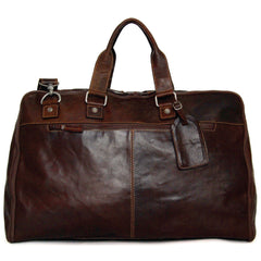Jack Georges #7540 Voyager Brown Buffalo Leather Convertible Valet Duffle