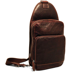 Jack Georges #7582 Voyager Brown Buffalo Leather Sling Bag