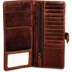 Jack Georges #7729 Voyager Brown Buffalo Leather Flight Wallet