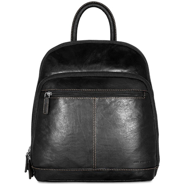 Jack Georges #7835 Voyager Black Buffalo Leather Daypack
