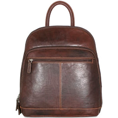 Jack Georges #7835 Voyager Rich Brown Buffalo Leather Daypack