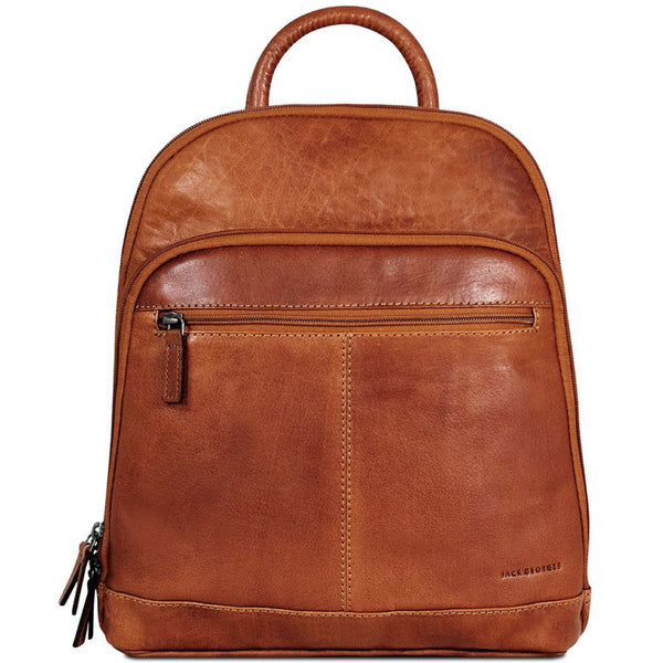 Jack Georges #7835 Voyager Honey Brown Buffalo Leather Daypack