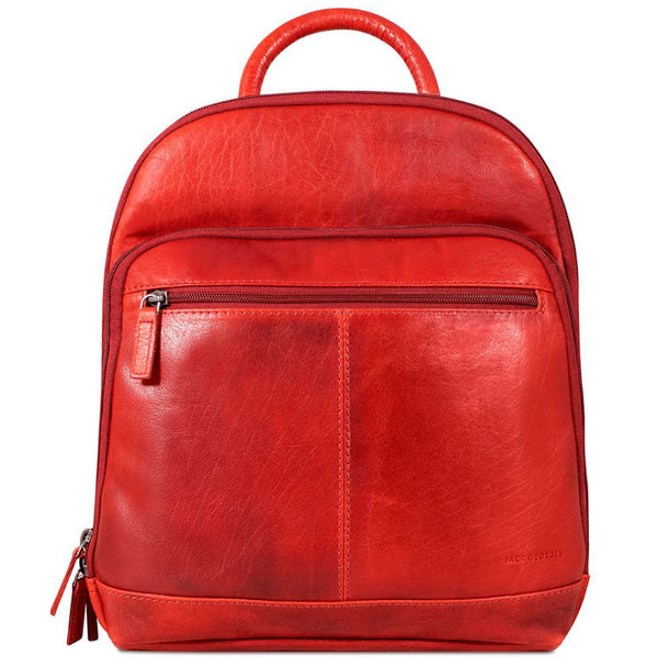 Jack Georges #7835 Voyager Chili Red Buffalo Leather Daypack