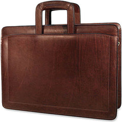 Jack Georges 9002-BRN Saddle Brown Belting Leather Triple Gusset Briefcase