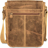 Jack Georges #A4245 Arizona Rustic Buffalo Leather Hunter Camo Crossbody Satchel