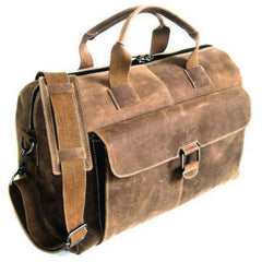 Jack Georges #A4718 Arizona Rustic Buffalo Leather Hunter Camo Duffle Bag