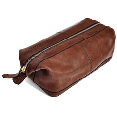 Libero Ferrero Vegetable Tanned Espresso Horween Leather G.I. Dopp Kit