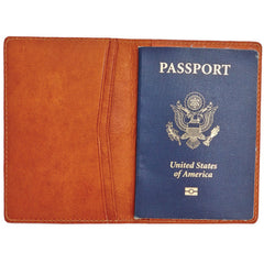 Libero Ferrero Vegetable Tanned Hickory Horween Leather Passport Sleeve