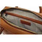 Libero Ferrero Vegetable Tanned Hickory Horween Leather Pocketed Portage Briefcase