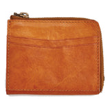 Libero Ferrero Vegetable Tanned Hickory Horween Leather Zipper Wallet