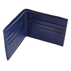 Libero Ferrero Vegetable Tanned Blue Ink Horween Leather Pocket Billfold Wallet
