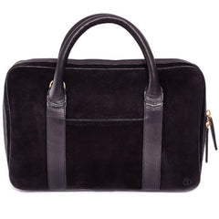 Libero Ferrero Black Suede Slim Horween Leather Briefcase