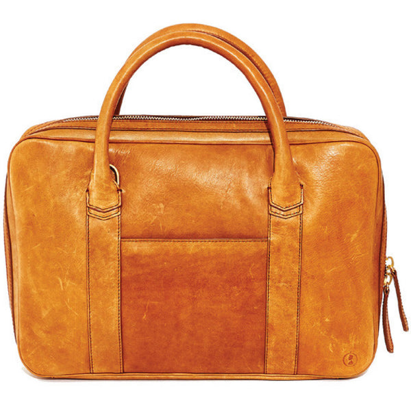 Libero Ferrero Tobacco Brown Slim Horween Leather Briefcase