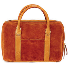 Libero Ferrero Tobacco Suede Slim Horween Leather Briefcase