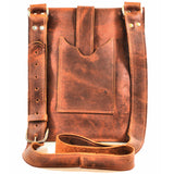 M201104-MB Divina Denuevo Mahogany Brown Ayre iPad Messenger Bag