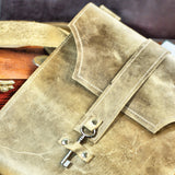 M201104-TB Divina Denuevo Tan Brown Ayre iPad Messenger Bag