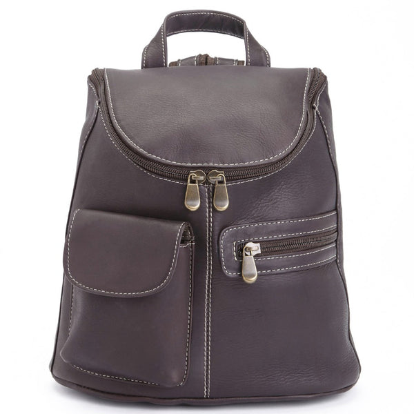 Royce 632-VL Barrel Bag Backpack in Coffee Brown Colombian Leather