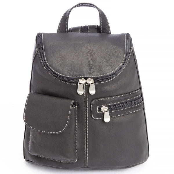 Royce 632-VL Barrel Bag Backpack in Charcoal Black Colombian Leather