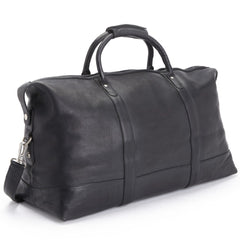Royce 680-VL Executive Weekender Duffel Bag in Handcrafted Black Colombian Leather