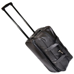Royce 649-5 Black Nappa Leather Double Decker Trolley Duffle