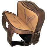 Scully Leather 81st Aero Squadron Collection Walnut Brown Lambskin Paratrooper Captain's Flight-Ready Backpack (SCU-605-10-29-F)