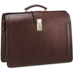 Jack Georges #9005 Saddle Brown Belting Leather Classic Combination Lock Briefbag