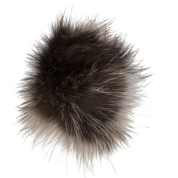 Winter Hat - Black - With recycled fur pompom!