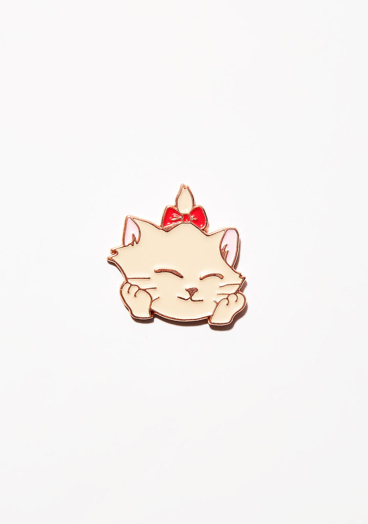 Glad Kitty Label Pin