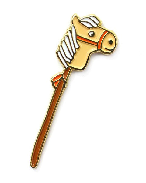 Hobby Horse label pin
